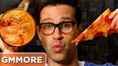 Dipping Pizza In A Pizza Smoothie - Good Mythical More